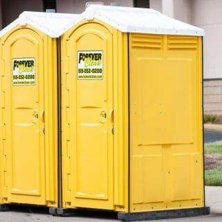forever clean portable restrooms in neighborhood building